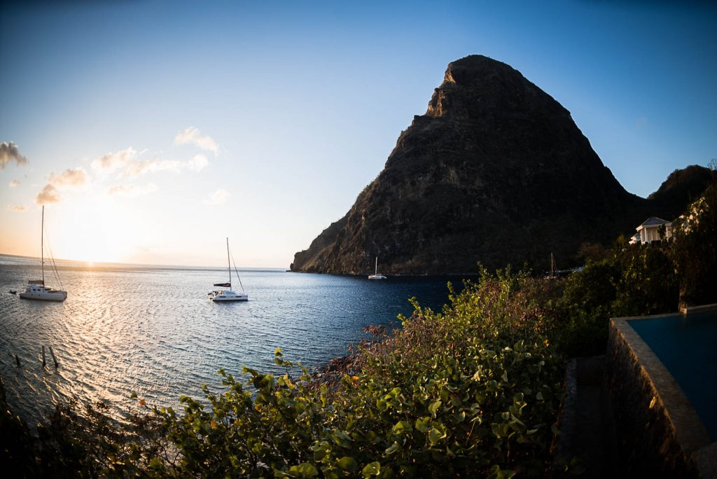 St lucia Mountains sugar beach resort
